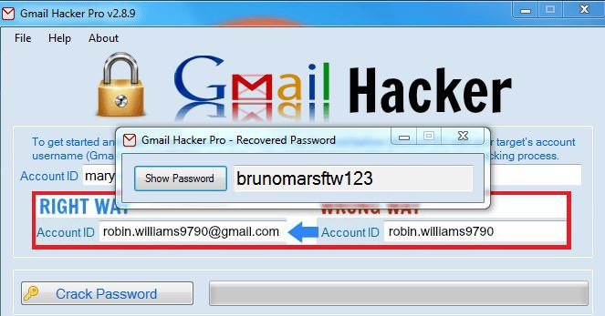 crack for gmail hacker pro