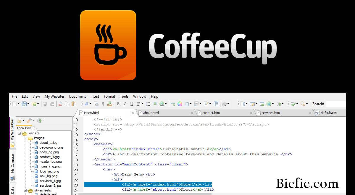 Coffeecup html editor 15 4 build 801 crack is here lifetime version